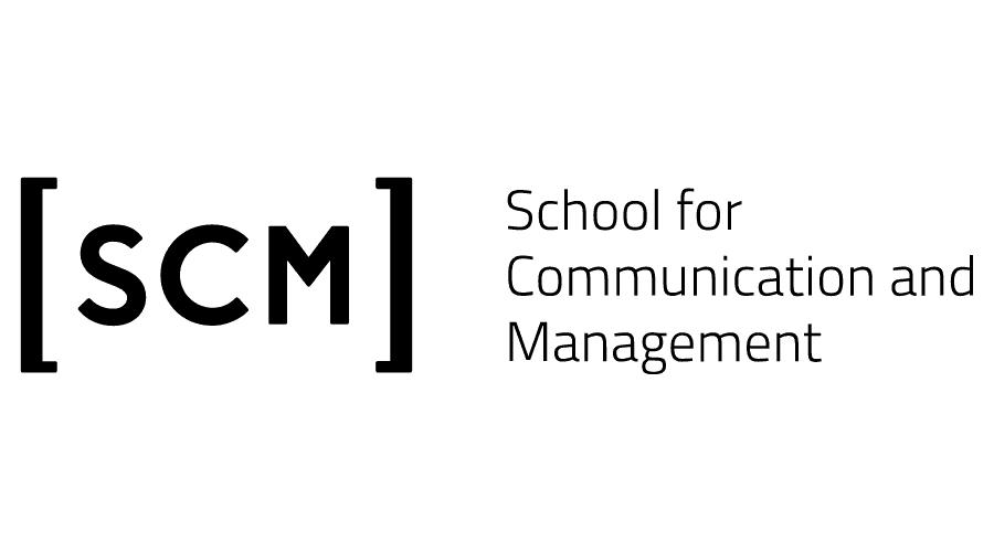 School for Communication and Management (SCM) Logo Vector