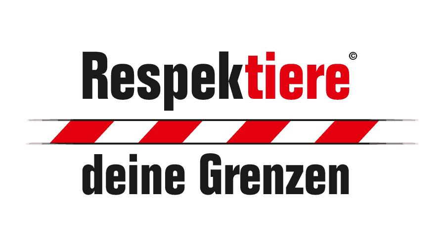 Respektiere deine Grenzen Logo Vector