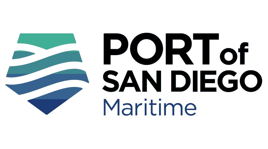 Port of San Diego Maritime Logo Vector