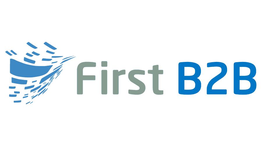 First B2B Logo Vector