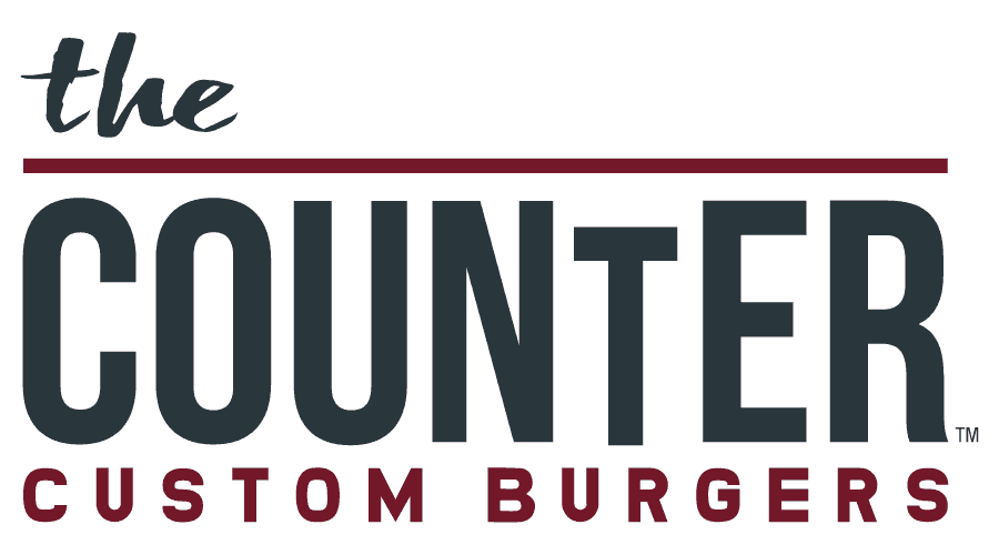 The Counter Custom Burgers Logo Vector