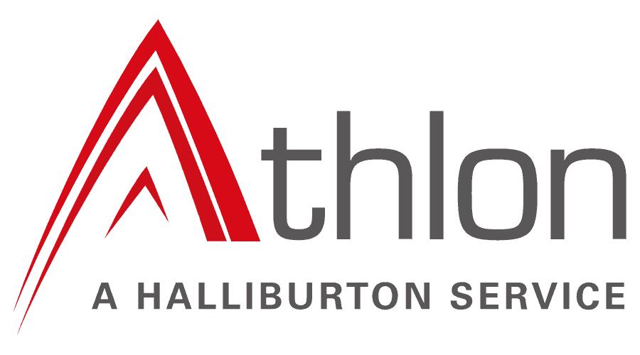 Athlon, a Halliburton Service Logo Vector