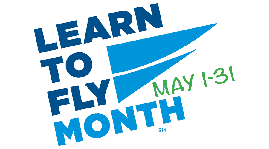 Learn to Fly Month Logo Vector