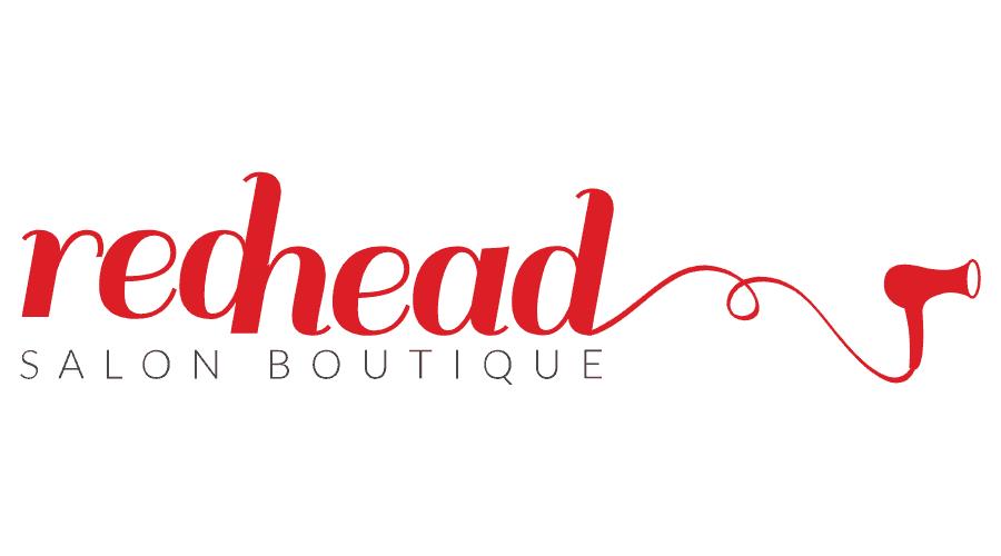Redhead Salon Boutique Logo Vector